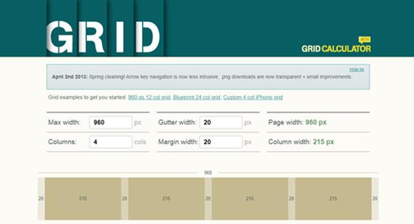 Latest Design Trends-Grid Calculator