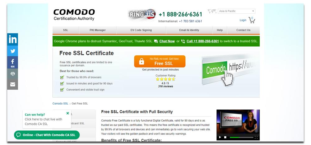 Comodo- SSL Certificate