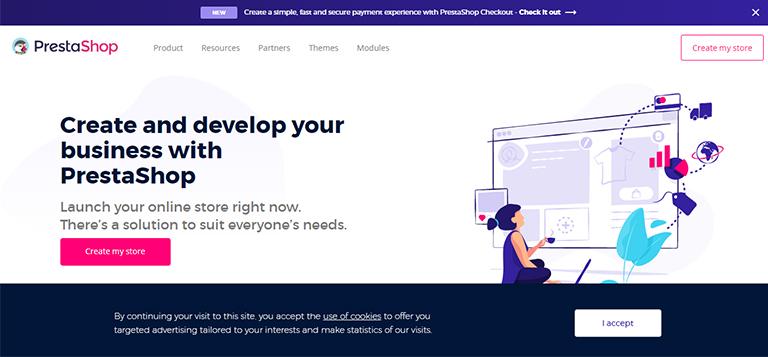 ecommerce website - prestashop