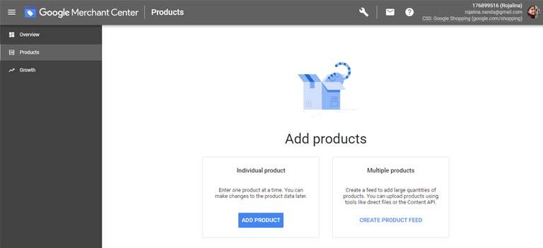 social media Google shopping