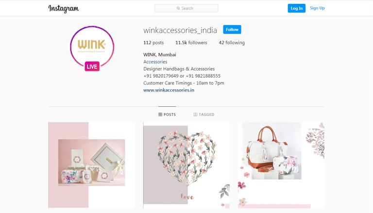 Instagram web -live